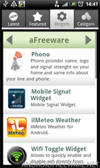 aFreeware Widgets - Android Freeware App