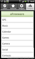 aFreeware Categories - Android Freeware App