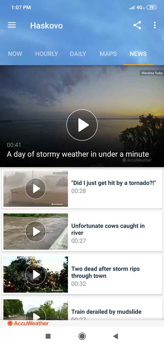 Local weather news