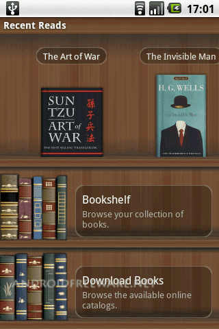 Aldiko is an ebook reading application that runs on any Android phone and which enables you to easily download and read thousands of books right on your smartphone