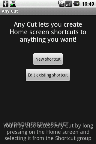 Any Cut allows you to create Home shortcuts to anything