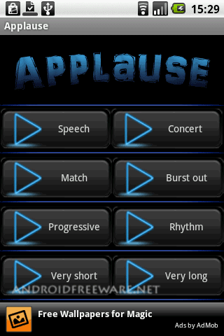 You can use this app to applause for your friends or in class.