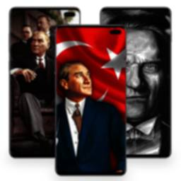 Image of Atatürk and Turkish Flag Wallpapers