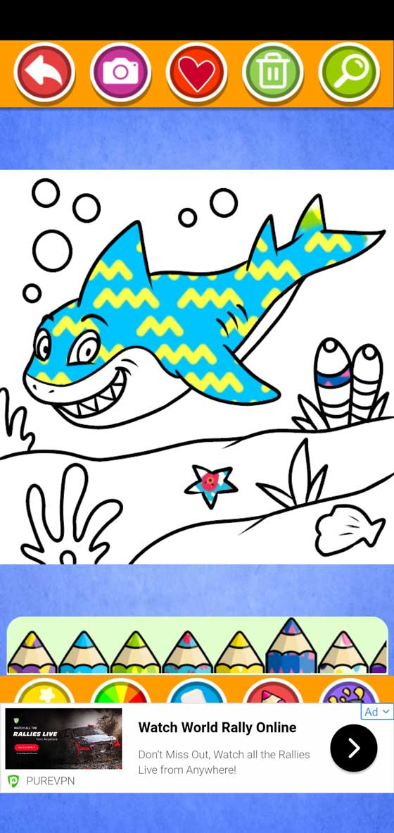 Baby Shark Coloring screenshot 3