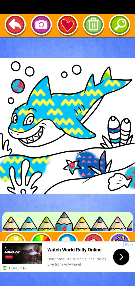 Baby Shark Coloring screenshot 5