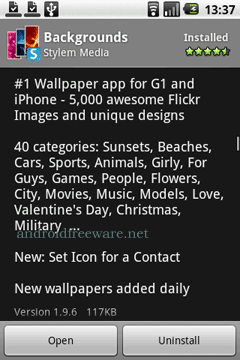 The most popular Wallpaper app for the Android.