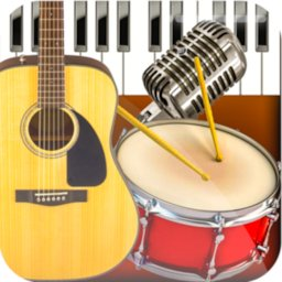 Image of Band Live Rock 🎵 drum, bass, guitar, piano, mic