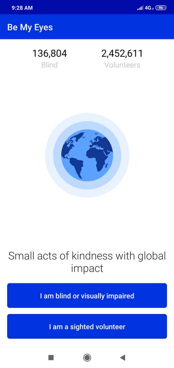 Do small acts of kindness to visually impaired