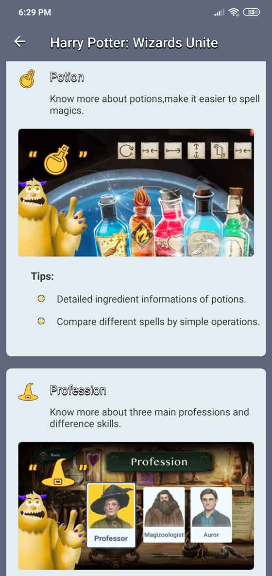 Harry Potter: Wizards Unite potions and professions