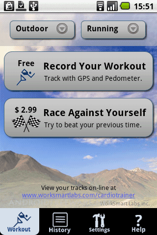 CardioTrainer is your training partner for running, cycling, hiking, and other cardio fitness activities.