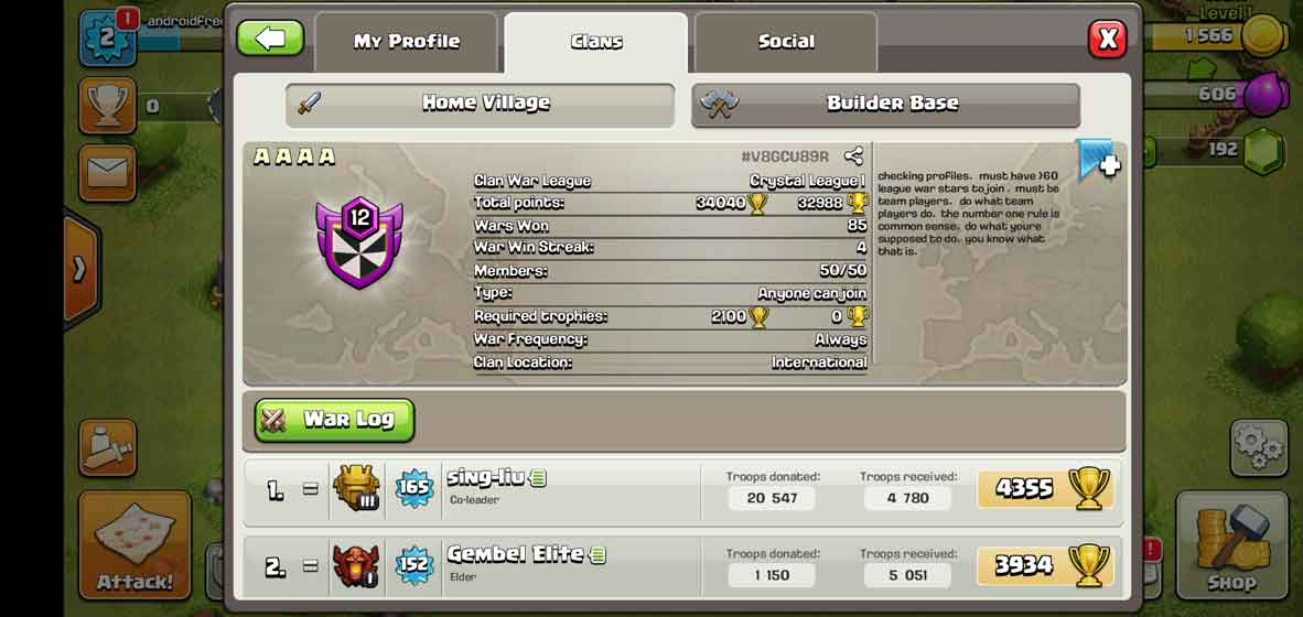 Participate in clan