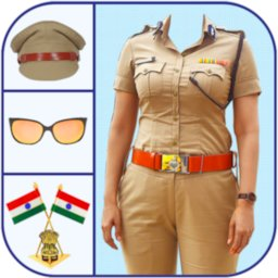 Image of Women Police Suit Photo Editor