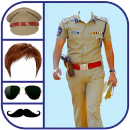 Image of Republic Day Men Police Suit Photo Editor 2021