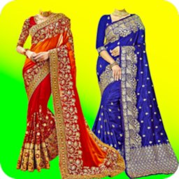 Image of Woman Fancy Saree Photo Suit Editor