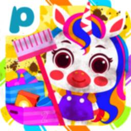 Pony Home Cleaning-House Cleaning Games for Girls