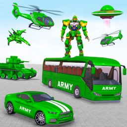 Image of Army Bus Robot Transform Wars
