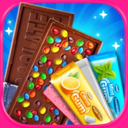 Chocolate Candy Bars Maker & Chewing Gum Games icon