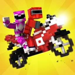Image of Blocky Superbikes Race Game - Motorcycle Challenge