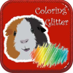 Image of Guinea Pig Coloring Books Glitter