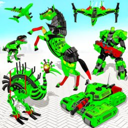 Image of Flying Ostrich Robot Transform Bike Robot Games