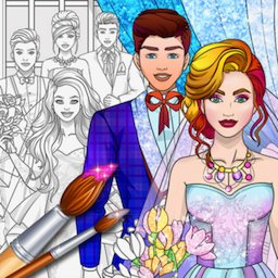 Image of Wedding Coloring Dress Up