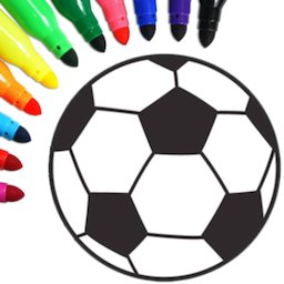 Image of Football coloring book game