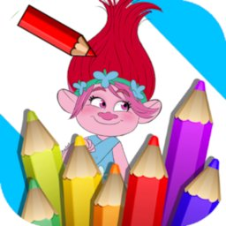 Image of Coloring Trolls Book