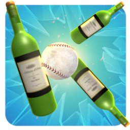 Image of Knockdown Bottles Smash:Baseball hit & knock out 3