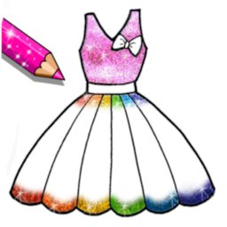 Image of Glitter Dresses Coloring Book
