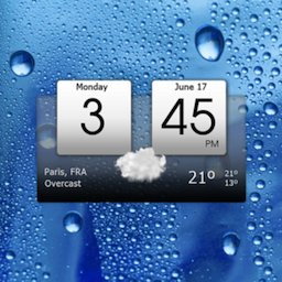 Image of Digital clock & world weather