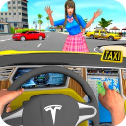 Taxi Driving Simulator City Car New Games 2021 icon