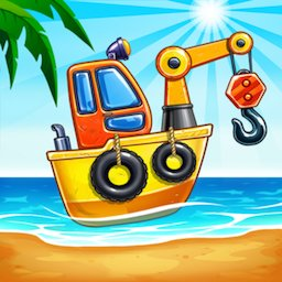 Image of Game Island. Kids Games for Boys. Build House