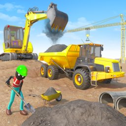 Image of Stickman City Construction Excavator