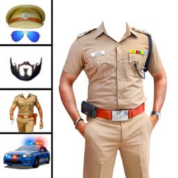 Image of Men Police Suit Photo Editor