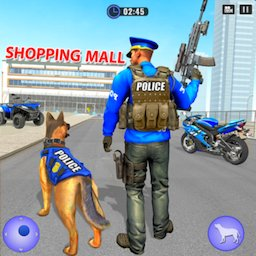 Image of US Police Dog Shopping Mall Crime Chase 2021