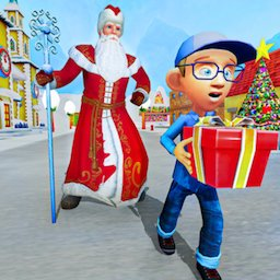 Santa Claus Christmas Fun Gift Delivery