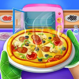 Image of Pizza Maker Chef Baking Kitchen