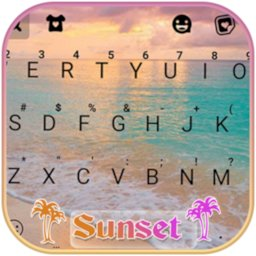 Image of Beach Sunset Keyboard Background