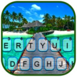 Image of Beach Vacation Keyboard Background