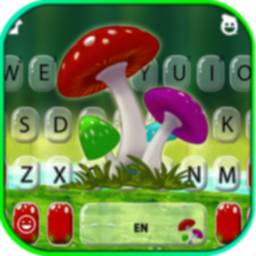 Cute Mushrooms Keyboard Background