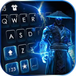 Image of Lightning Ninja Keyboard Background