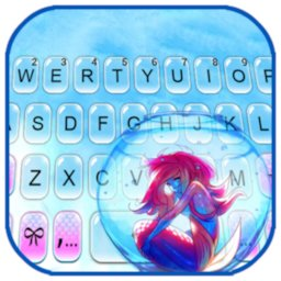 Image of Lonely Mermaid Keyboard Background