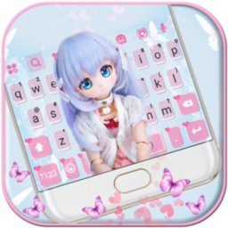 Image of Lovely Pastel Doll Keyboard Background