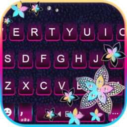 Image of Pastel Flowers Keyboard Background