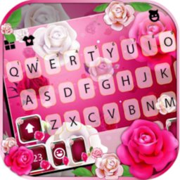 Image of Pink Roses 1 Keyboard Background