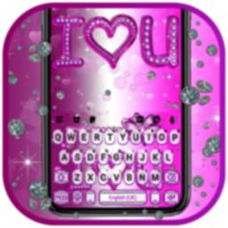 Image of Purple Love Diamond Keyboard Background