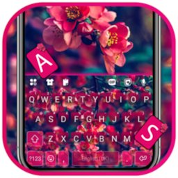 Image of Red Flowers Keyboard Background