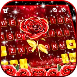 Red Lux Rose Keyboard Background icon