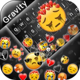 Image of Sad Emojis Gravity Keyboard Background
