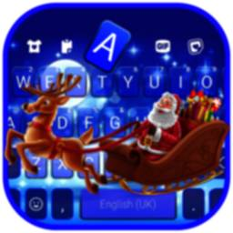 Santa Christmas Keyboard Background